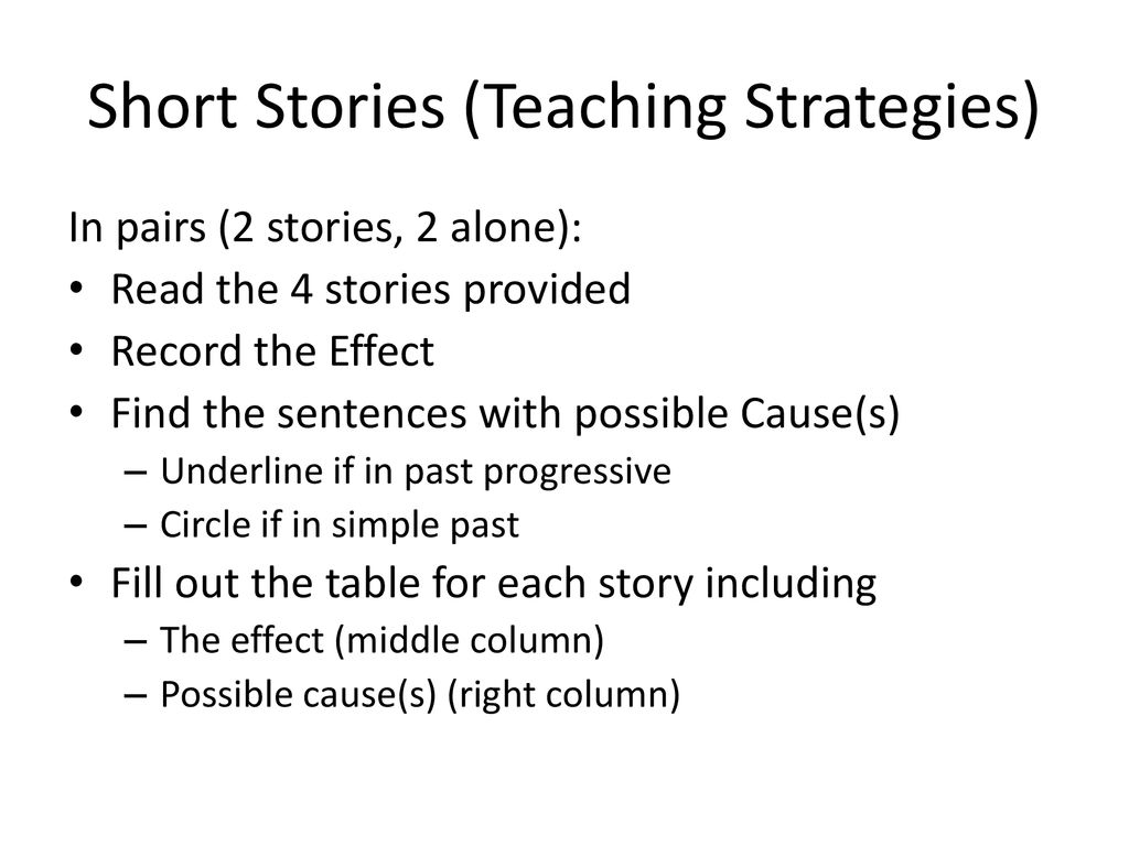 cause and effect short story for kids