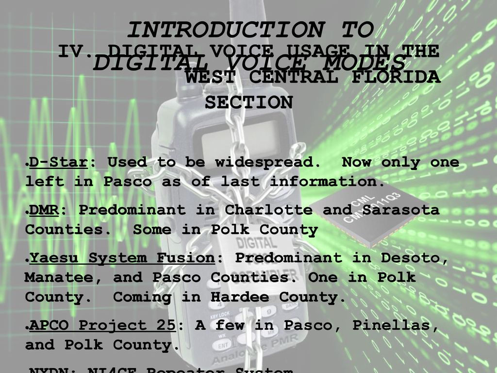 INTRODUCTION TO DIGITAL VOICE MODES - ppt download
