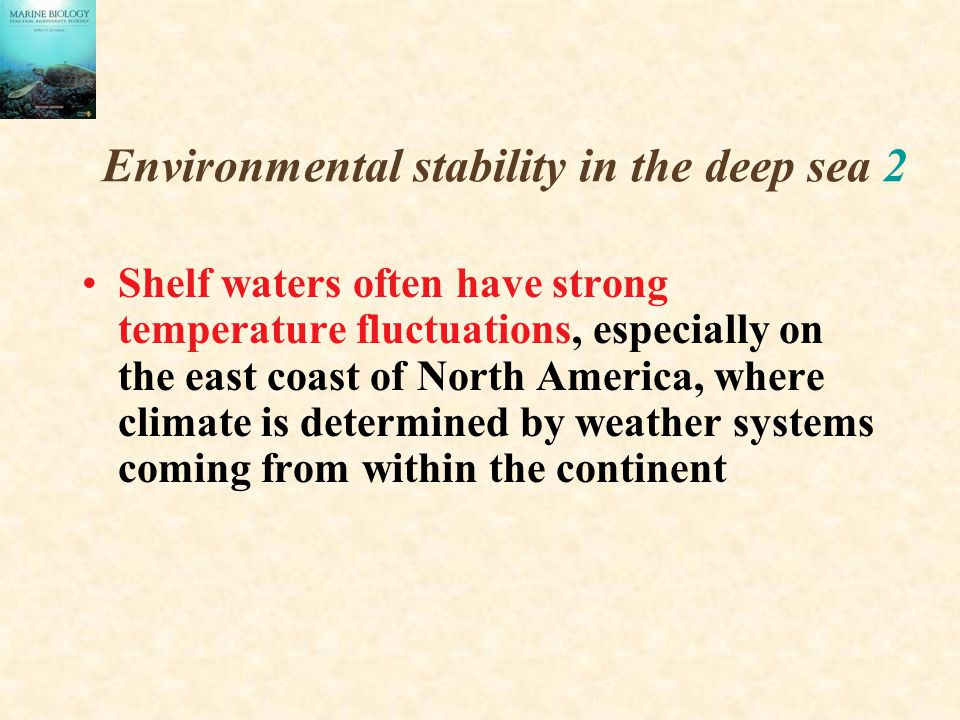 Environmental stability in the deep sea 2