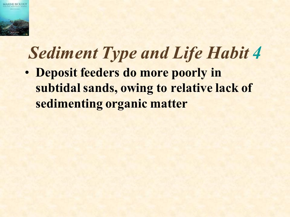 Sediment Type and Life Habit 4