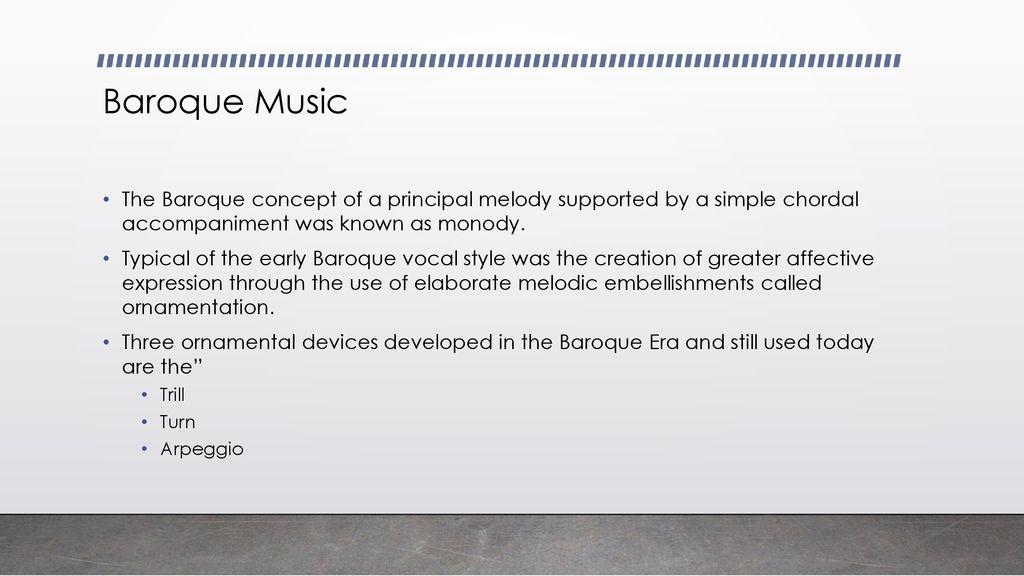 Baroque Era ppt download