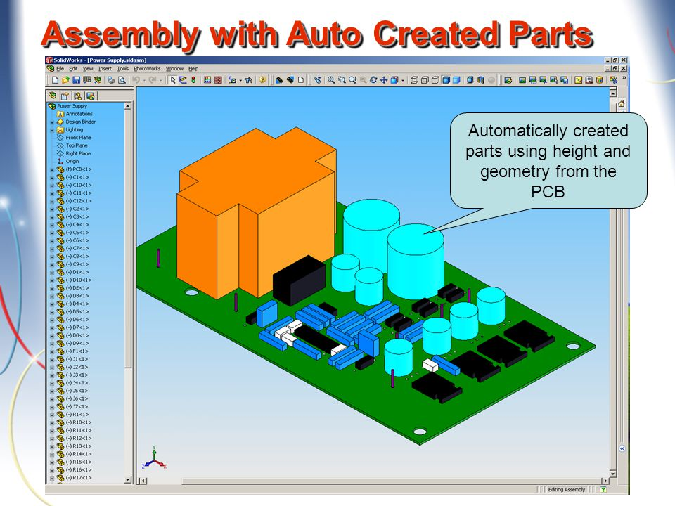 Assembly with Auto Created Parts