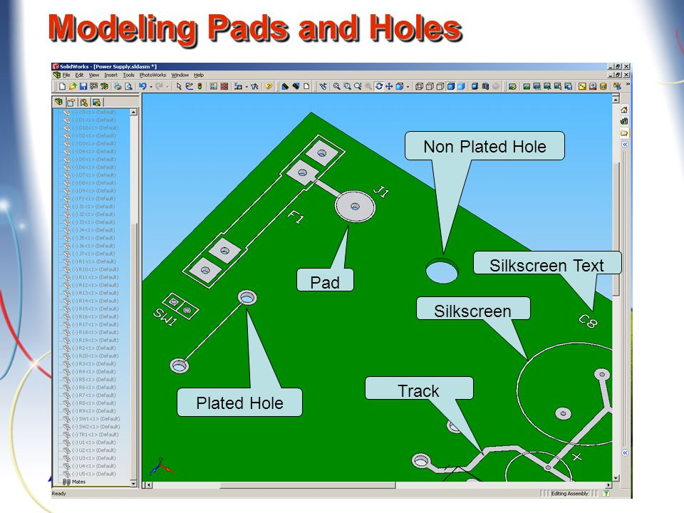 Modeling Pads and Holes