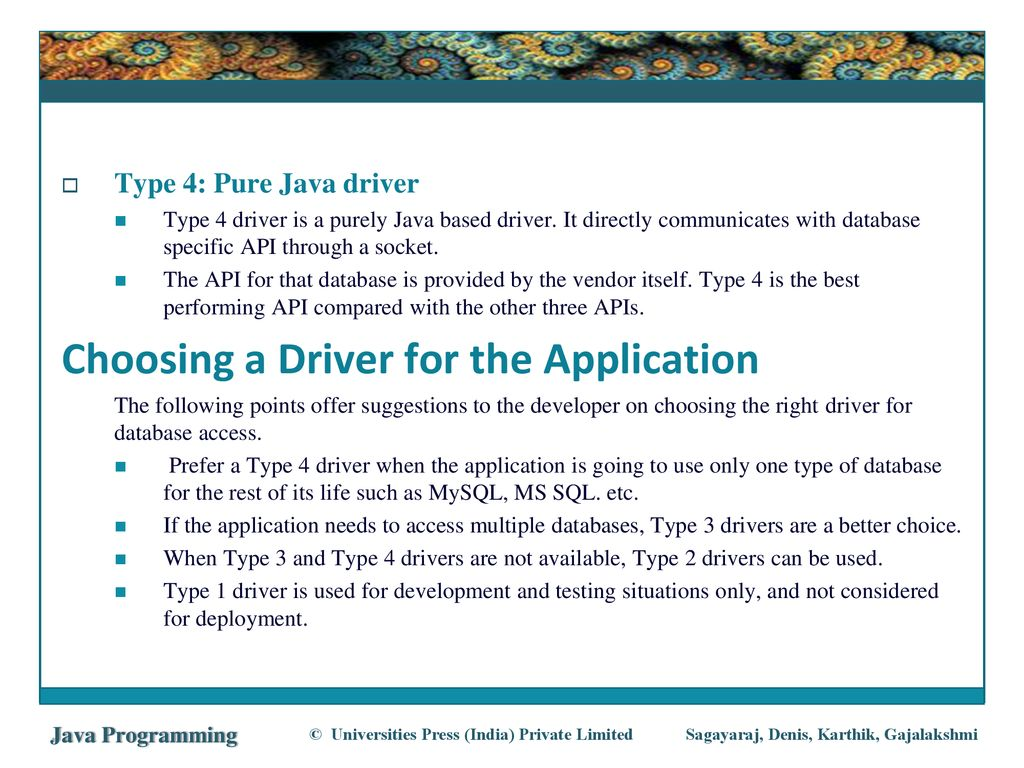 Chapter 16 JAVA DATABASE CONNECTIVITY - ppt download
