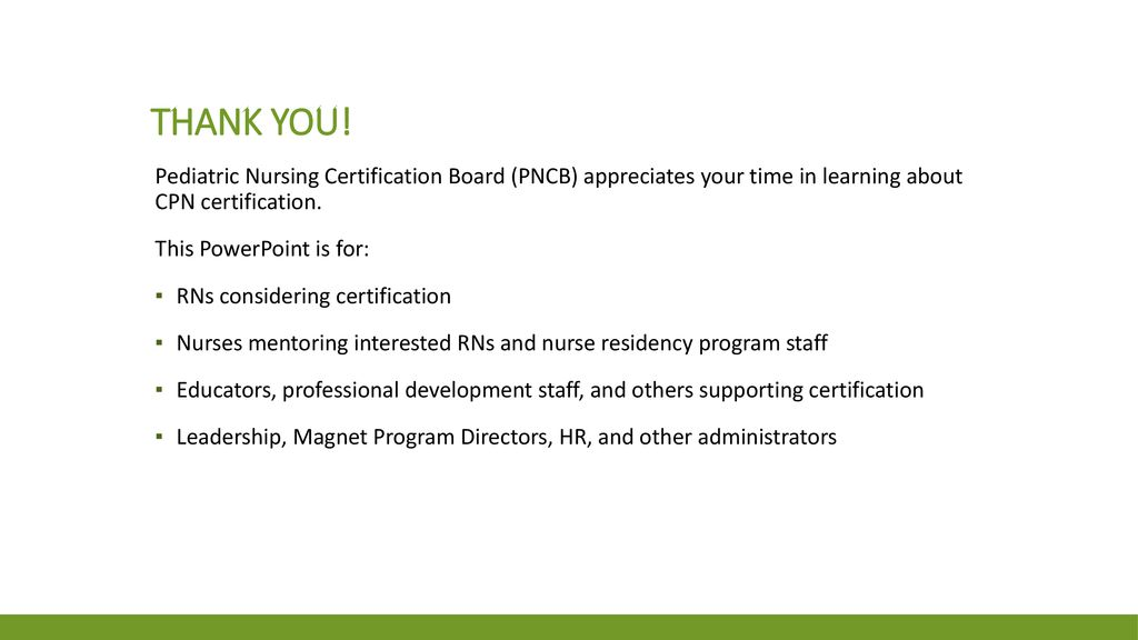 Cpn Certification A Guide For Nurses Those Supporting The Journey