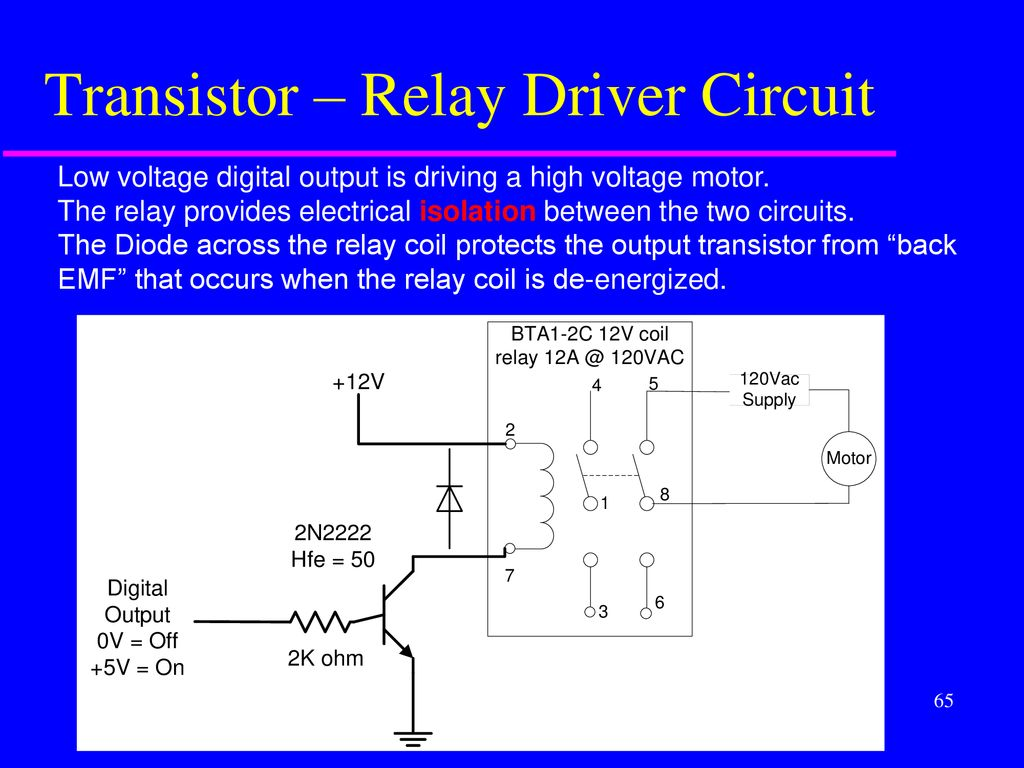 Scientific And Industrial Instrumentation Spring Ppt Download Transistor Relay Driver Circuit Schematic