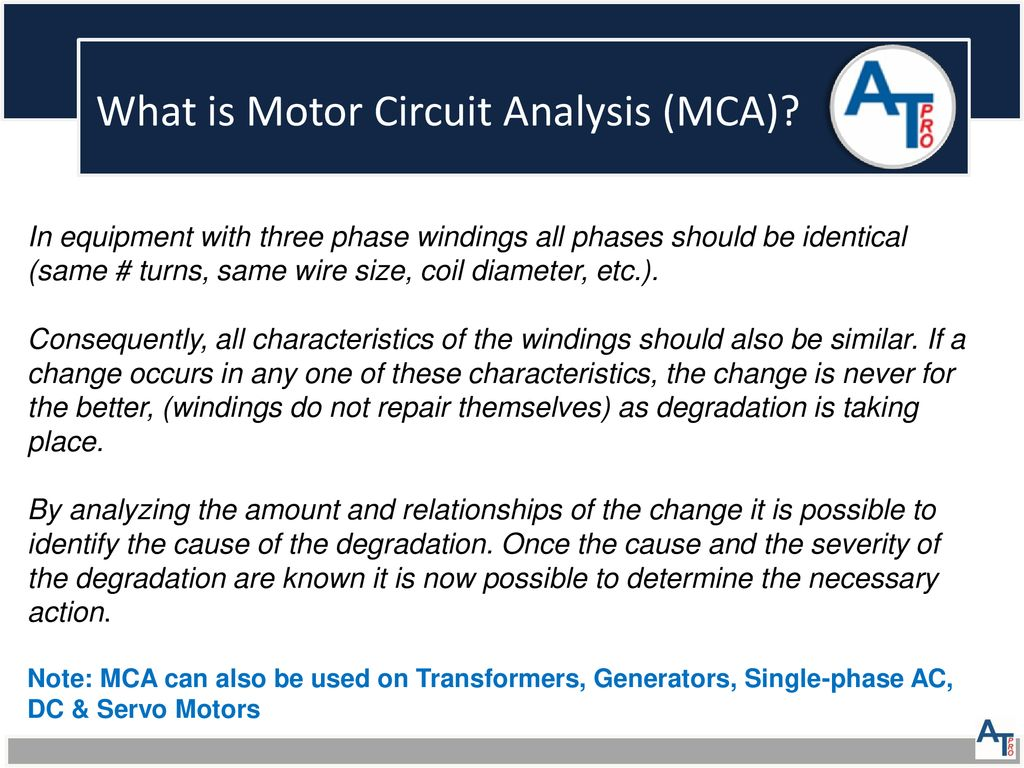 Atp Motor Health Presentation Ppt Download Ac Dc Wiring What Is Circuit Analysis Mca