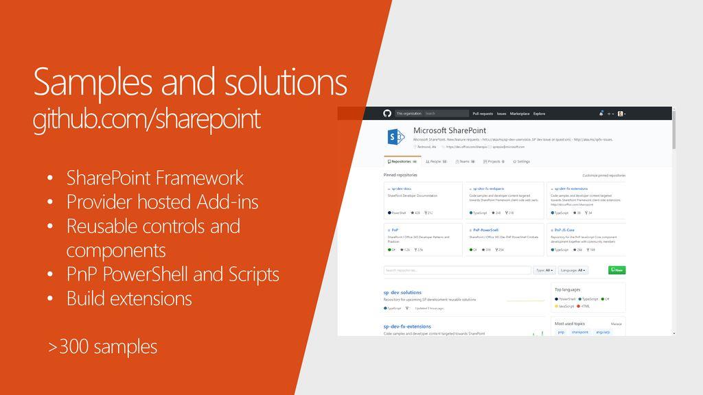 Advancing the SharePoint Developer Community (PnP) - ppt