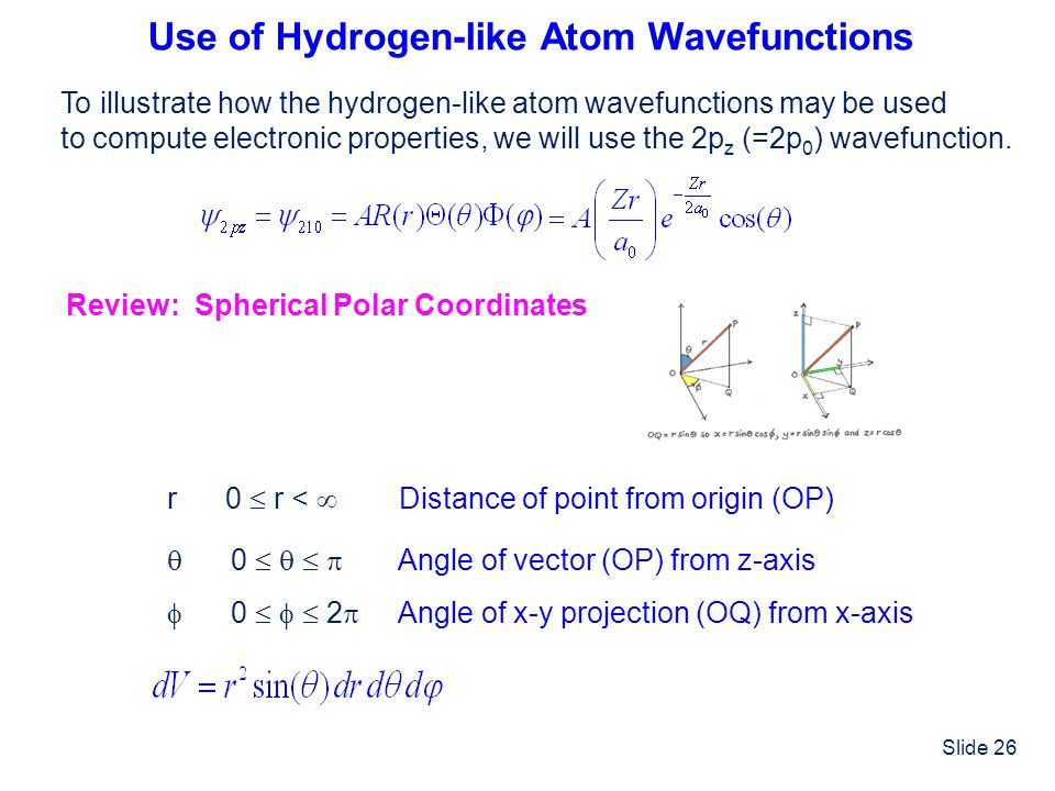 Use of Hydrogen-like Atom Wavefunctions