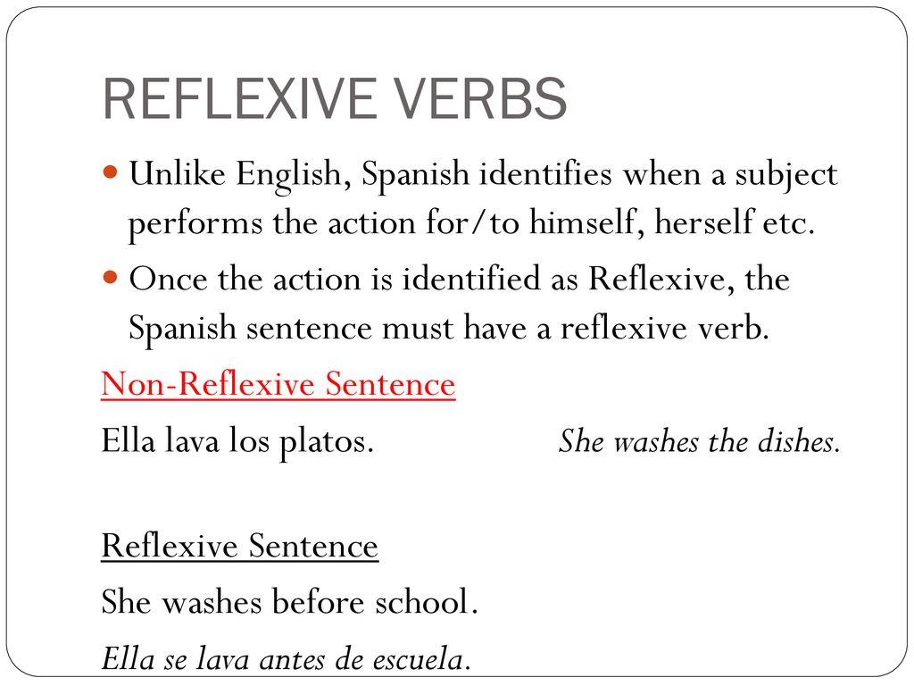 lavarse reflexive verbs consider the reflexive verb below: - ppt