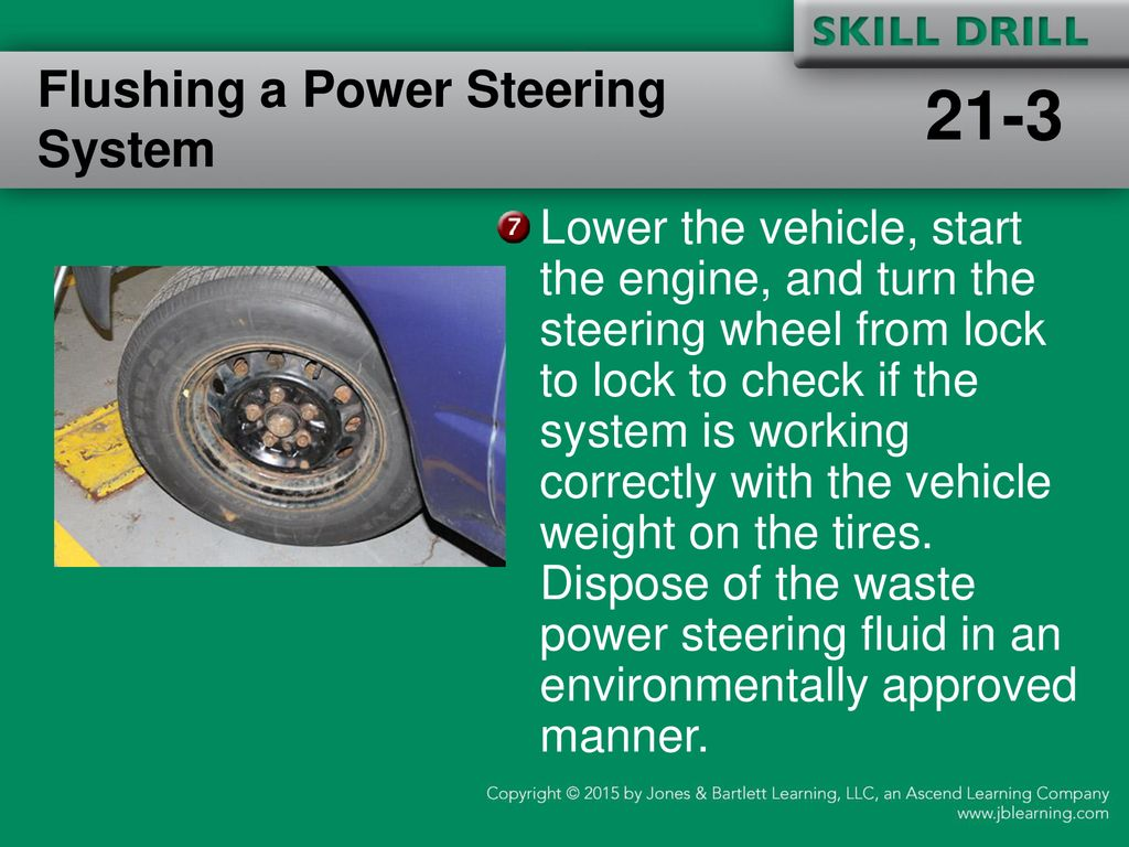 Servicing The Steering System Ppt Download Negative Battery Cable Disconnect And Cap Power Flushing A