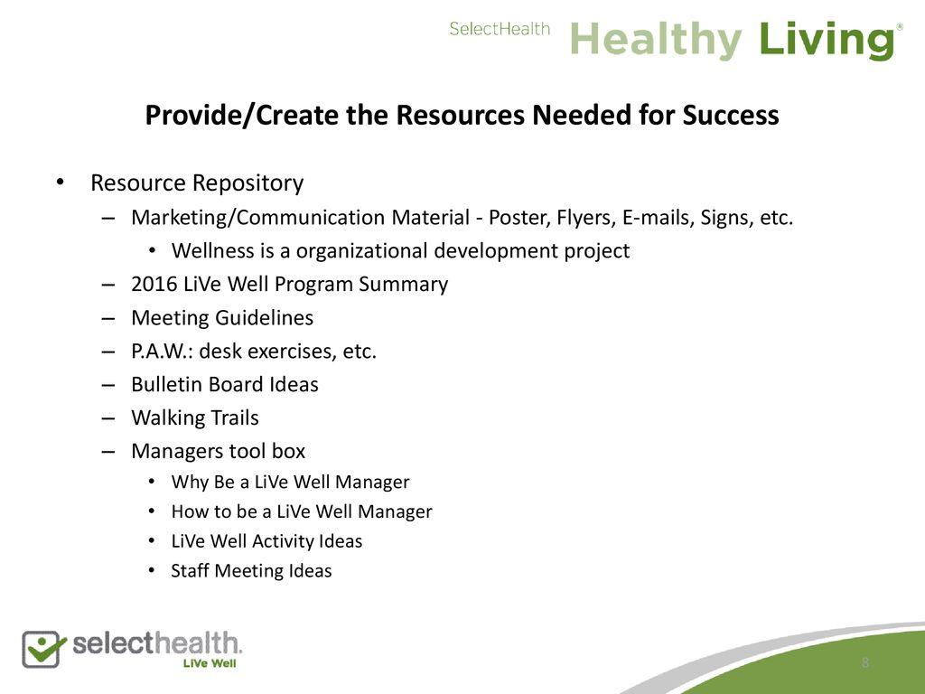 Creating An Effective Wellness Council Ppt Download
