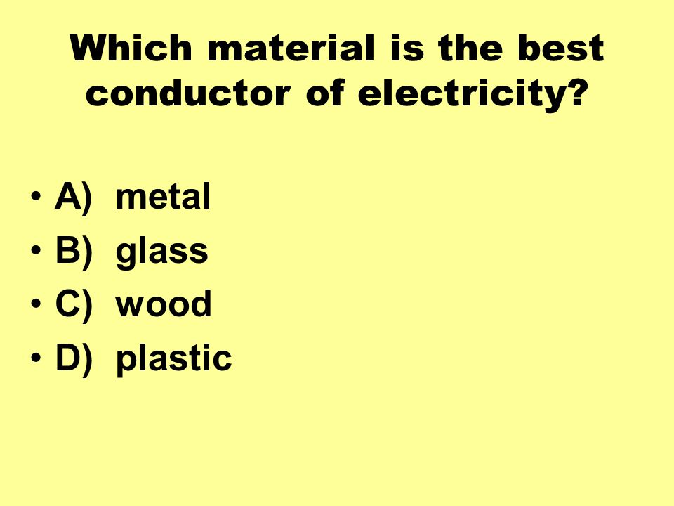 Which material is the best conductor of electricity