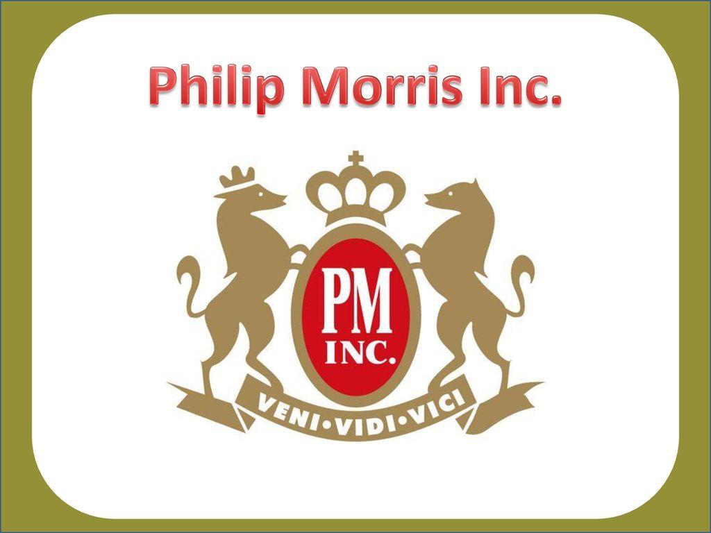 Philip Morris Inc Ppt Download