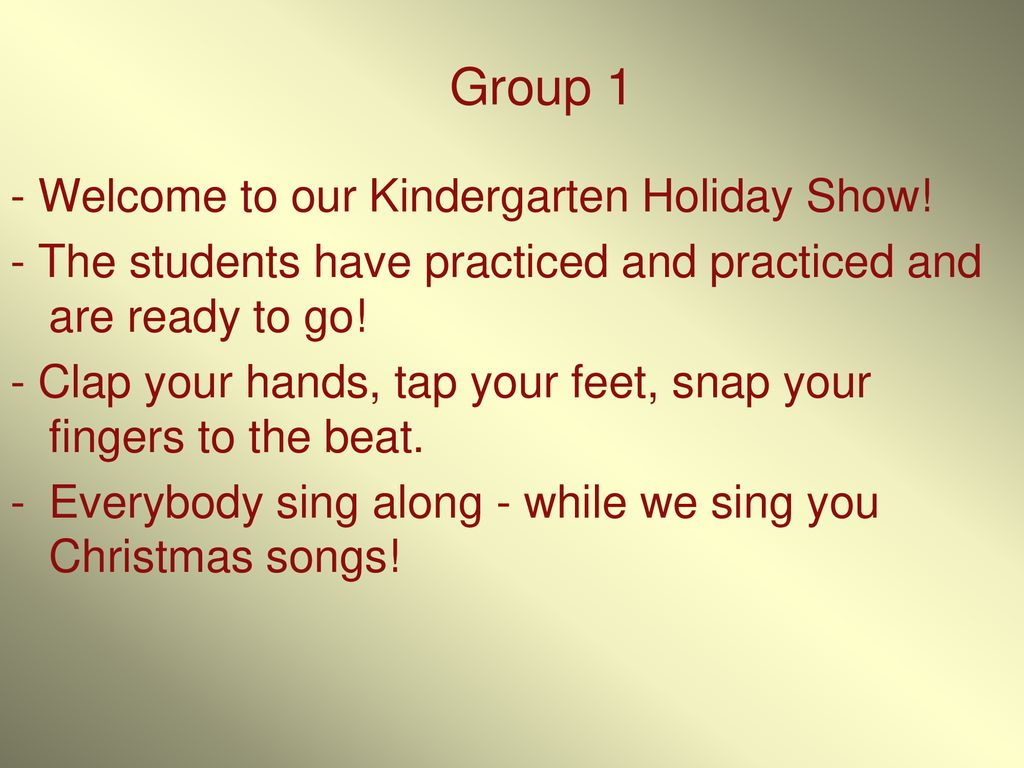A Kindergarten 2010 Christmas - ppt download