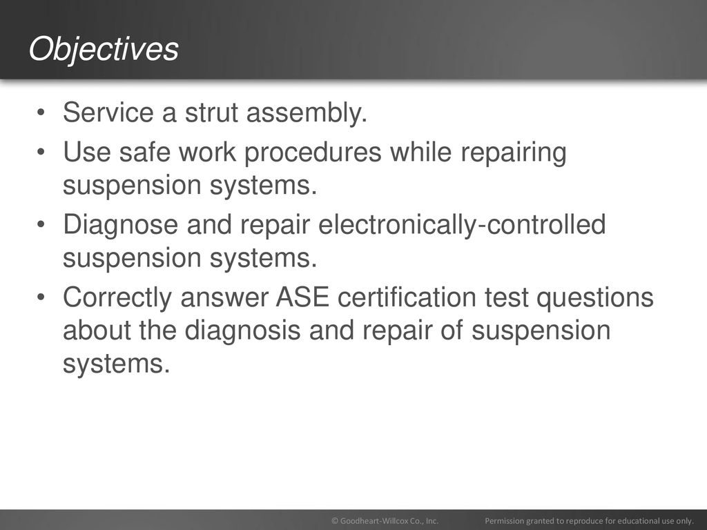 77 Chapter Suspension System Diagnosis And Repair Ppt Download