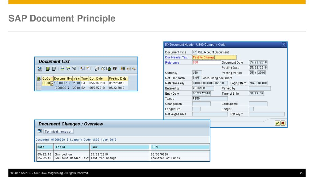 Journal entry tcode in sap
