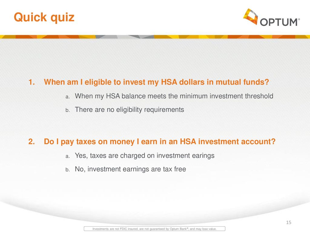 Optum bank hsa investment what is risk aversion in forex trading