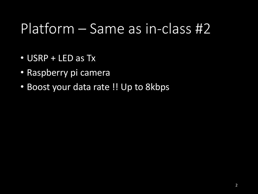 Lab 1 Camera Communication  - ppt download