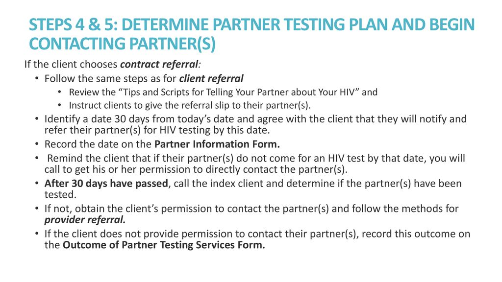 Partner and Family-Based Index Case Testing - ppt download