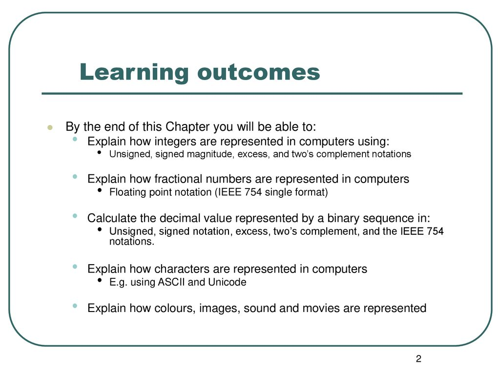 Chapter 5 Data representation  - ppt download