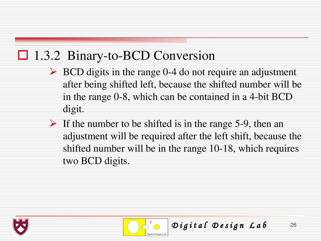 Chapter 1 Number Systems Representations And Codes Ppt Bit Binary To Bcd Converter Circuit 132 Conversion