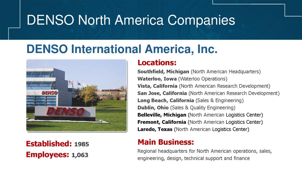 DENSO North America Companies - ppt download
