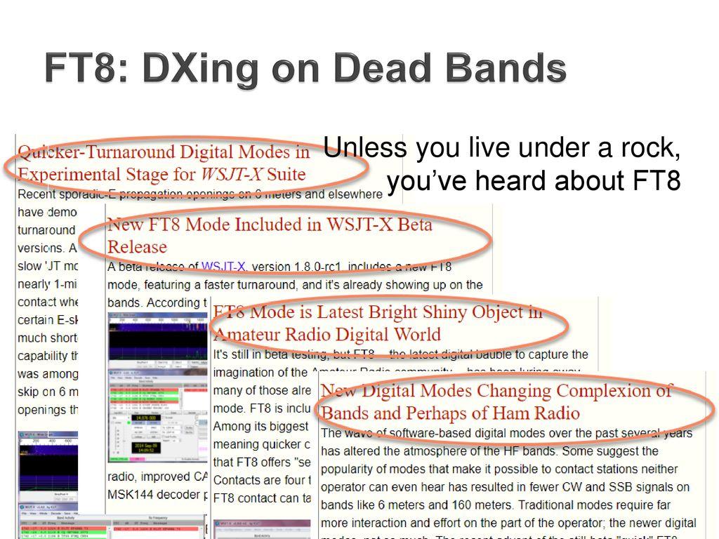 FT8: Digital DXing on Dead Bands - ppt download