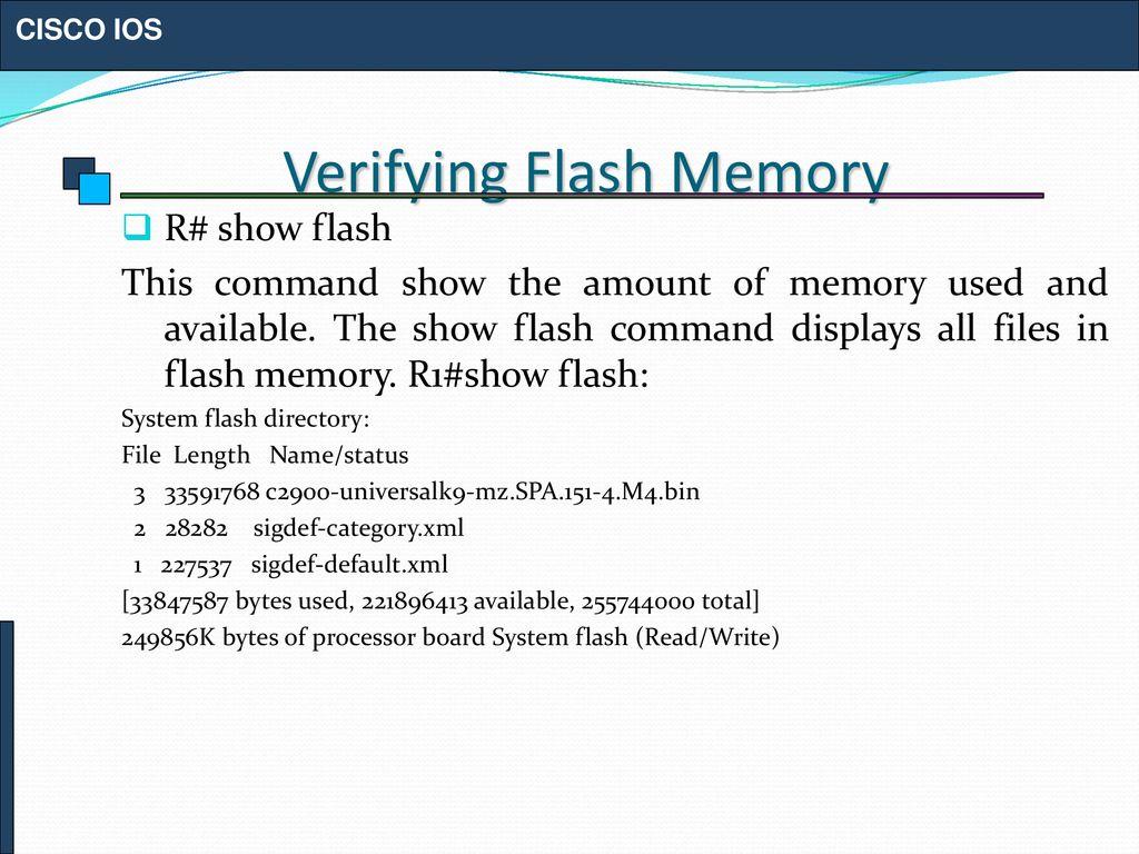 Show Flash Memory Cisco