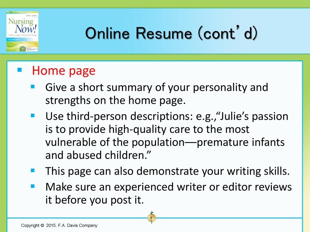 Chapter 10 Resume Writing And Interview Tips Ppt Download