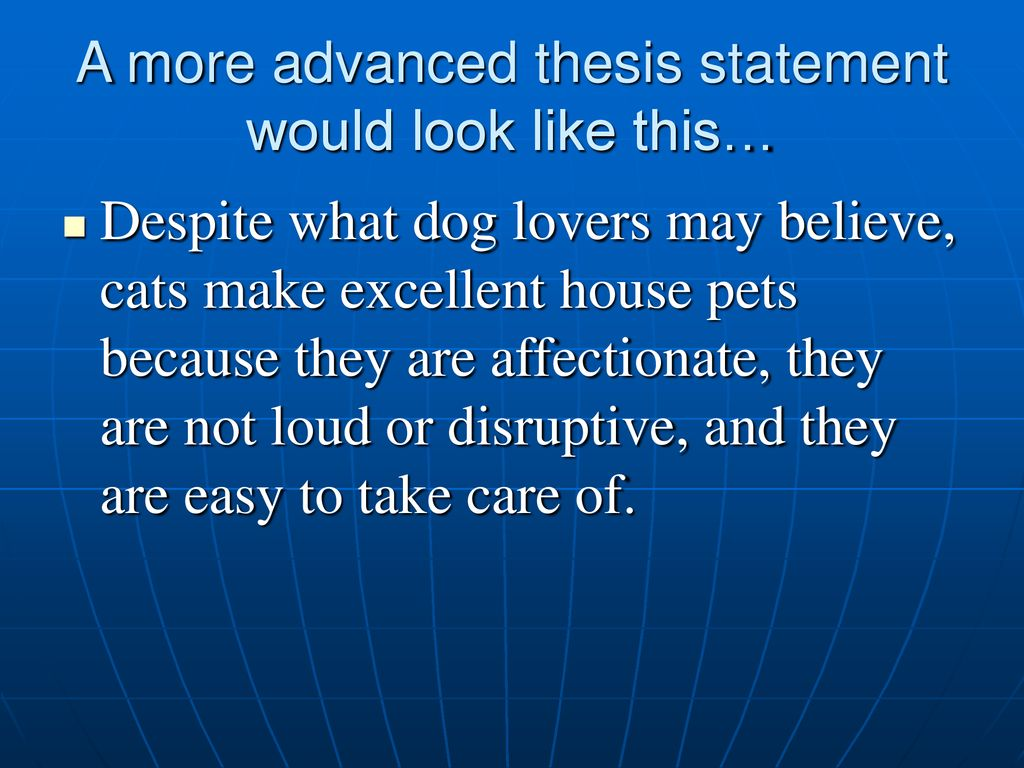 thesis statement for declawed cats