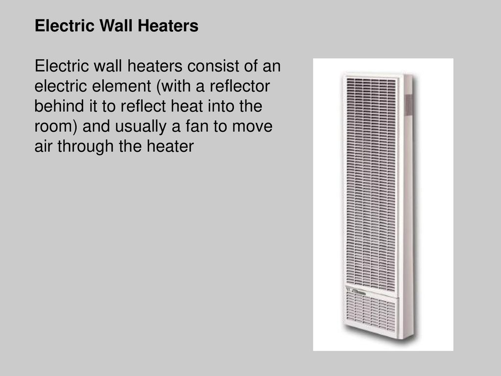 Energy In Buildings Heating Systems Cooling By Mina Greas Portable Electric Space Heaters Likewise Furnace Fan Limit Switch Wall