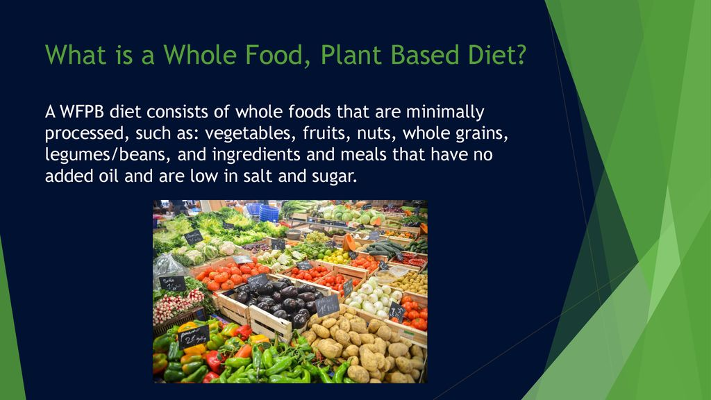whole foods plant based diet powerpoint template