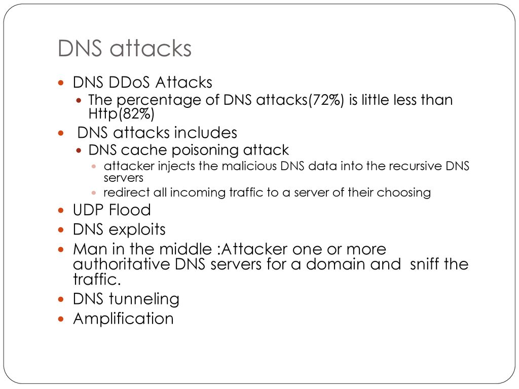 DNS Name Server and Protocol and attacks - ppt download