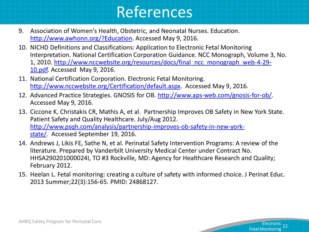 Monitoring For Perinatal Safety Electronic Fetal Monitoring Ppt
