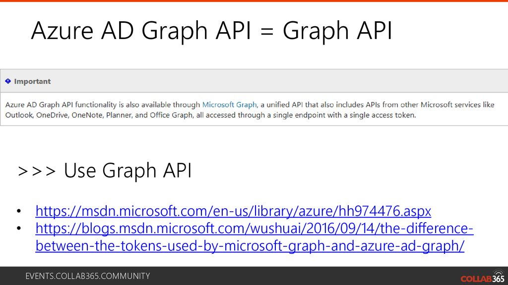 Dive into the Power of the Microsoft Graph - ppt download