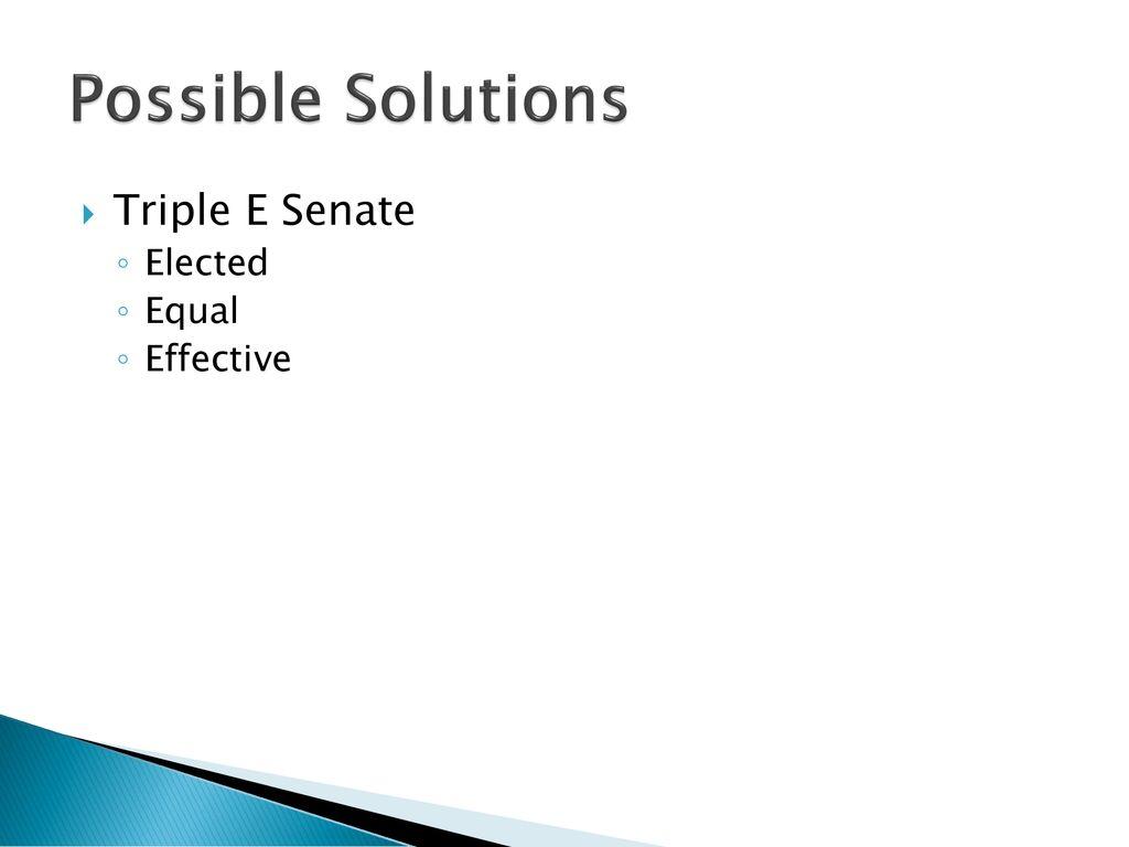 triple e senate