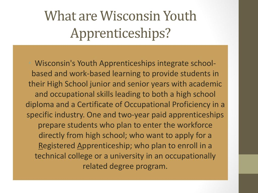 Getting Started With Wisconsin Youth Apprenticeships Ppt Download