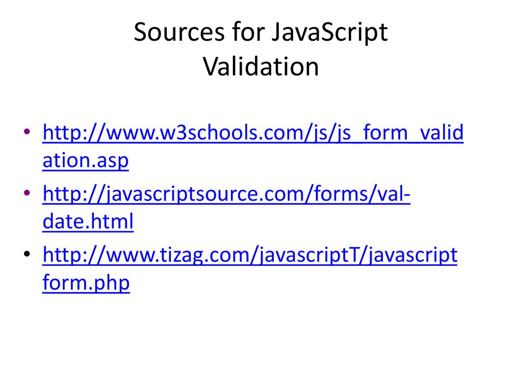 By Photo Congress || Date Validation In Javascript W3schools