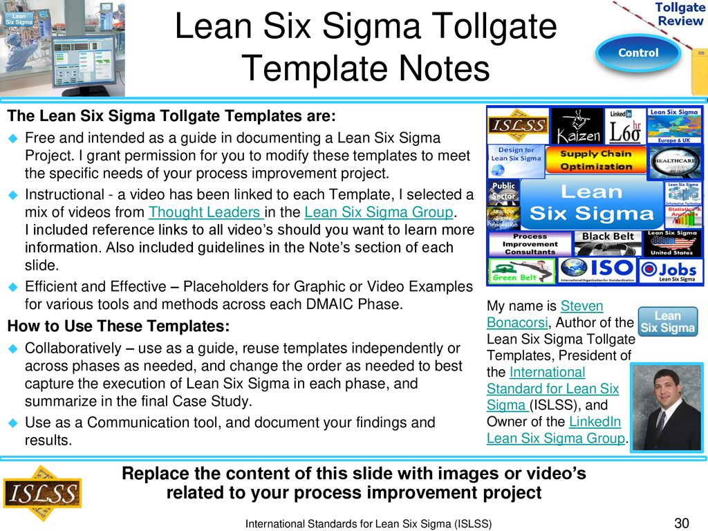 Cómo descargar Lean Six Sigma Control Phase Tollgate Review - Ppt