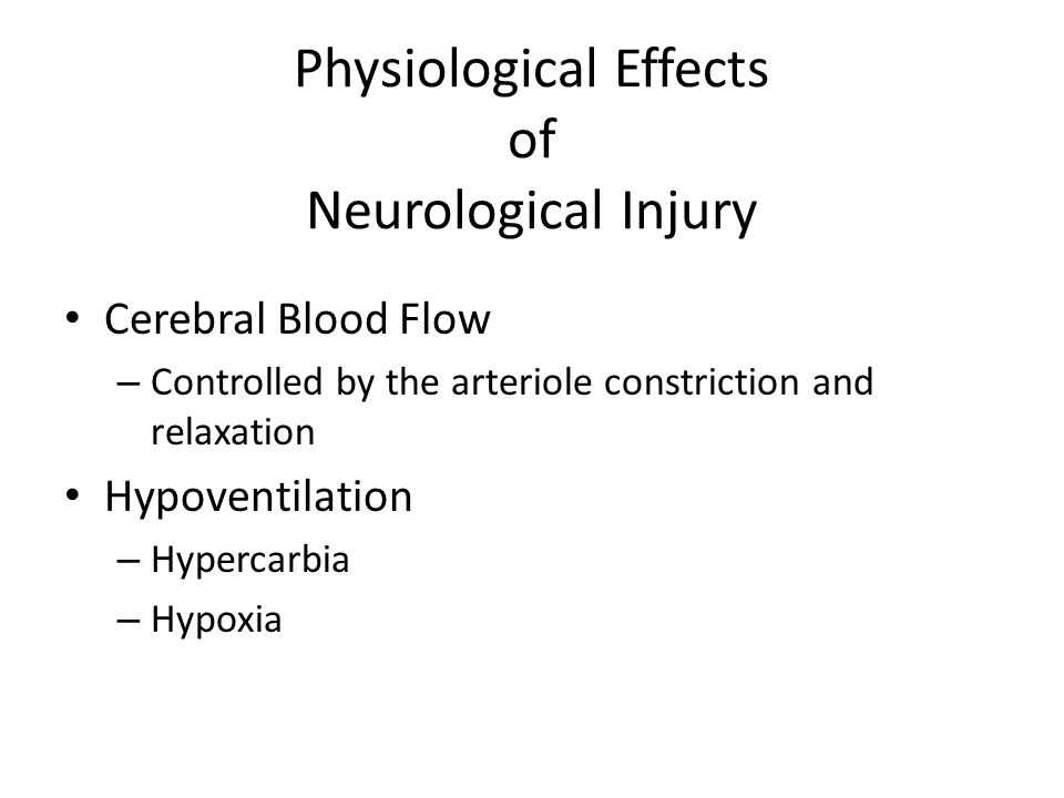 Physiological Effects of Neurological Injury