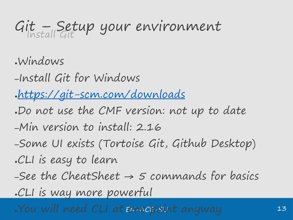 SU Development Forum Introduction to Git - Save your
