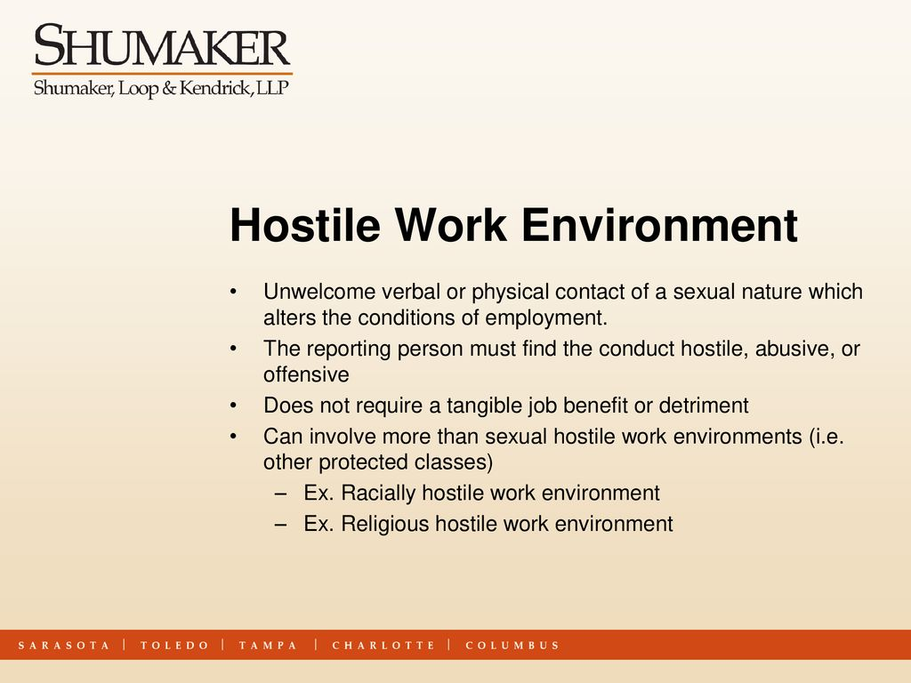 Sexual Harassment in the Workplace Employee Training - ppt