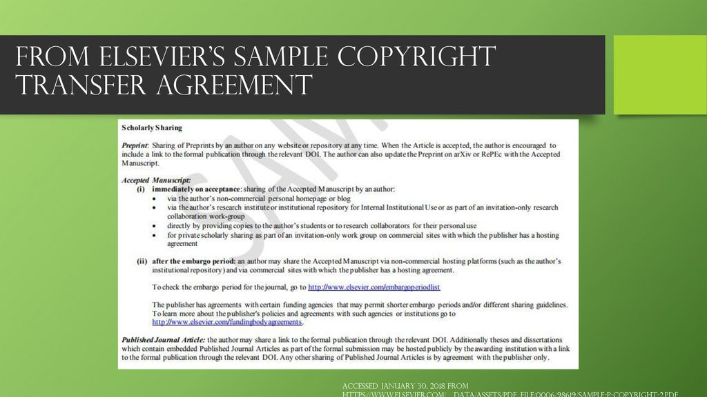 Managing the Rights to Your Publications - ppt download
