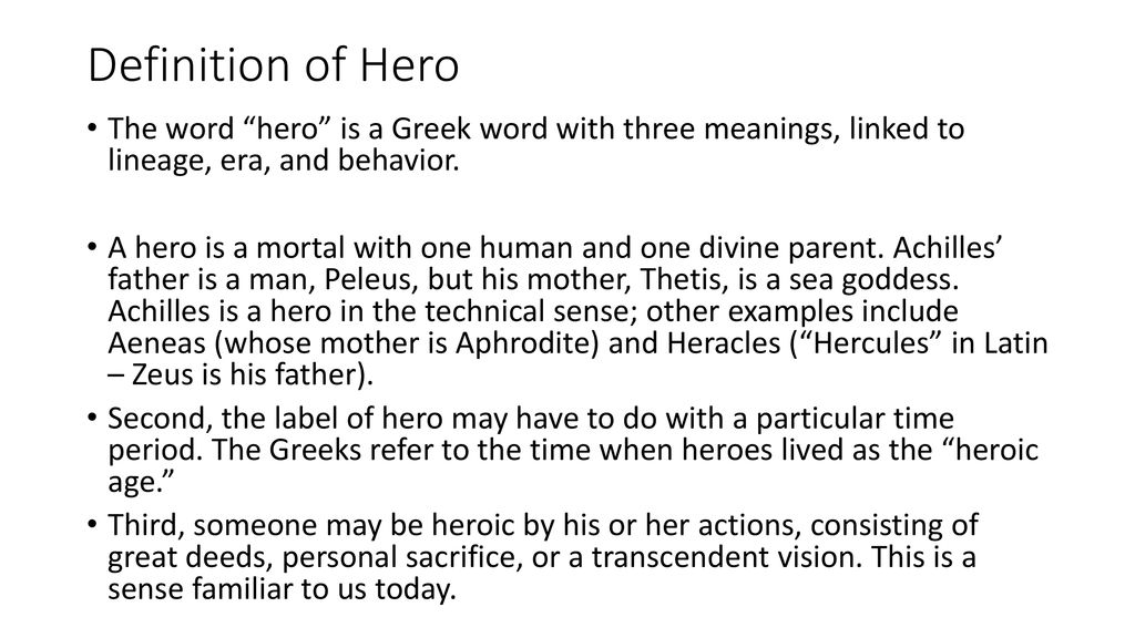examples of heroic behavior