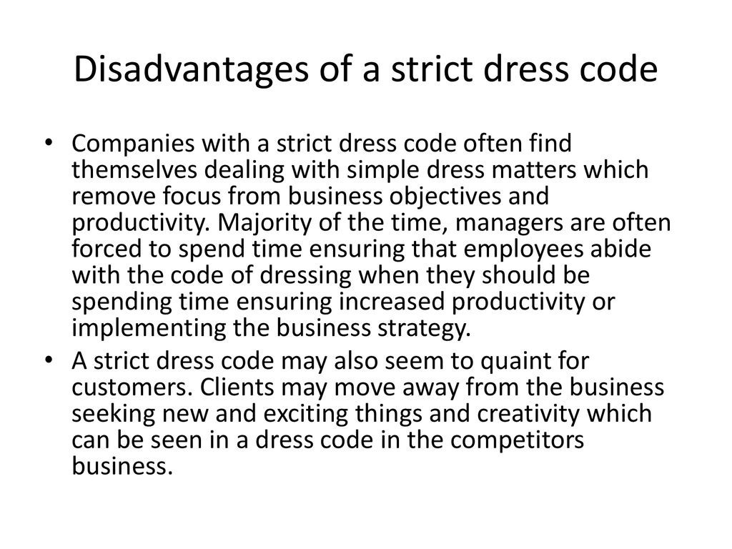 EMPLOYEE DRESS CODE DETERMINING STRATEGY  - ppt download