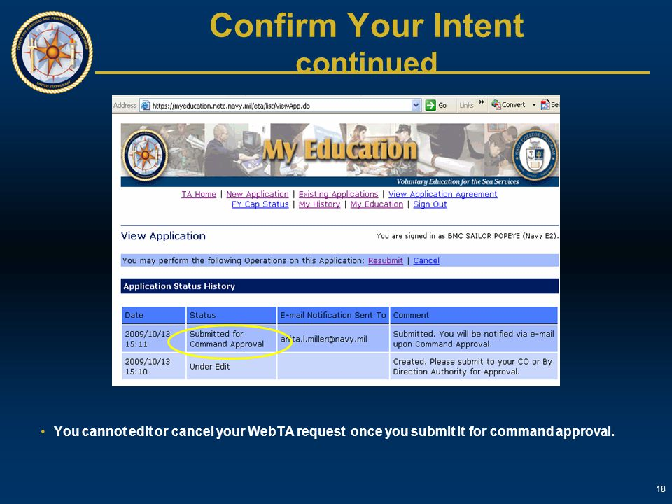 Confirm Your Intent continued