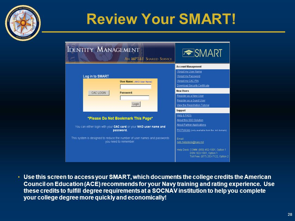 Review Your SMART!