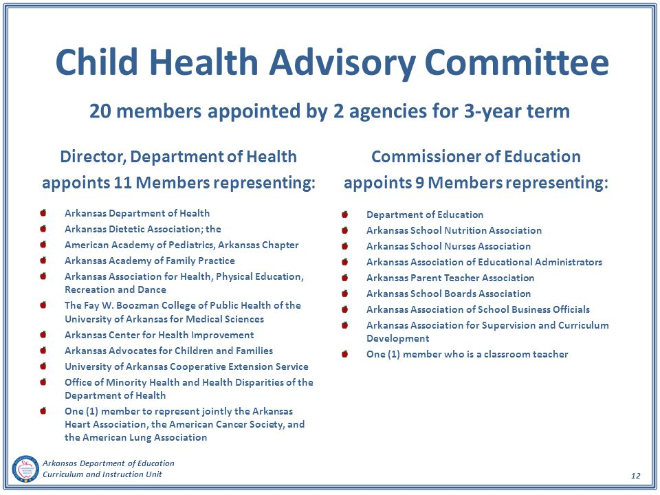 Child Health Advisory Committee