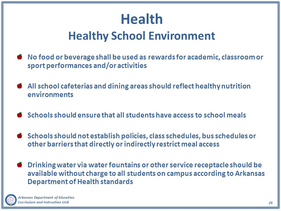 Health Healthy School Environment